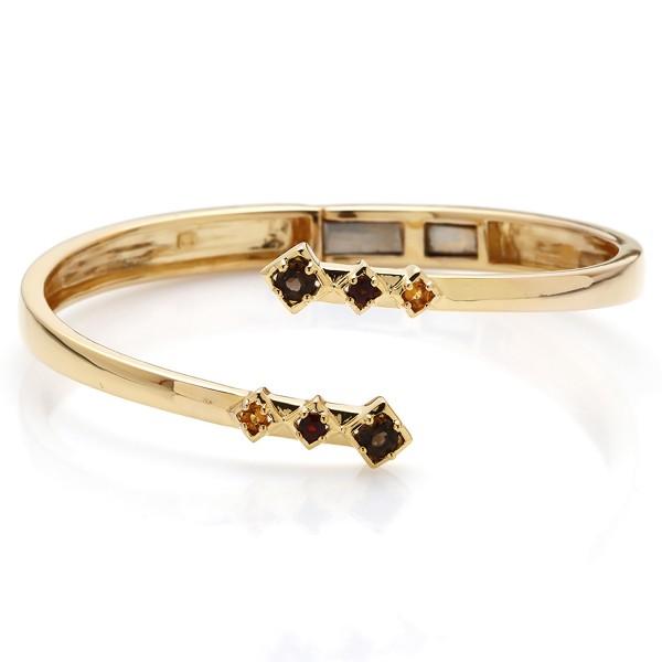 Charming Visionary - Armreif Rauchquarz, Granat (braun, rot) Gold