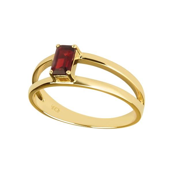 Charming Imaginative - Ring Granat (rot) Gold