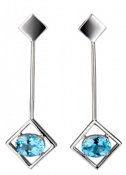 Sparkling Big Earrings Silver