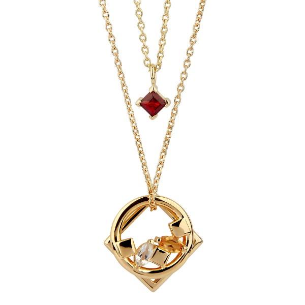 Daring - Halskette Granat (rot) Gold