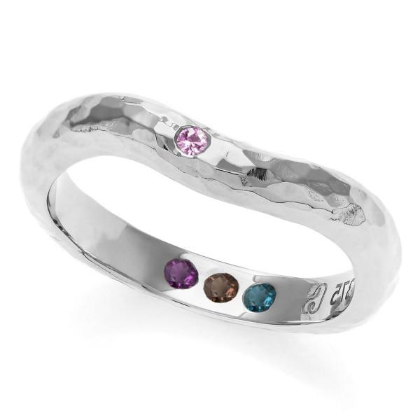 Hidden Inner Strength Ring Silver Hammered