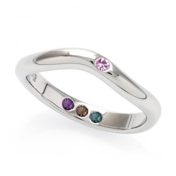 Pre-Set Hidden Inner Strength Ring Silver Polished