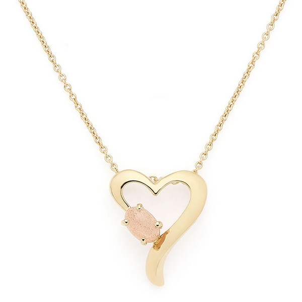 Lovely Heart Necklace Gold