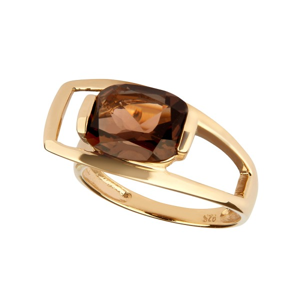 Charming Quartz - Ring Rauchquarz (braun) Gold