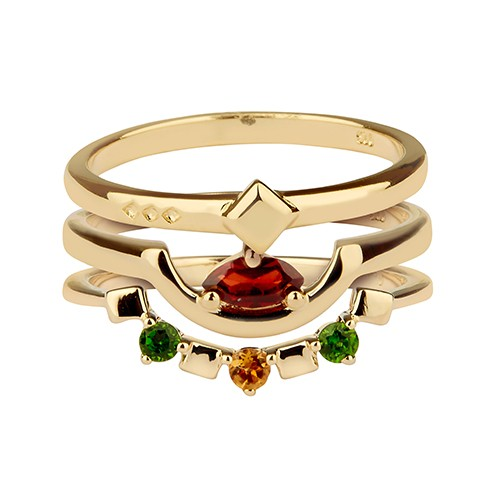 Daring Triad Ring Gold
