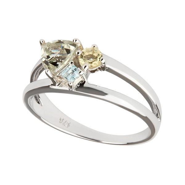 Lucid - Ring Amethyst (grün) Silber