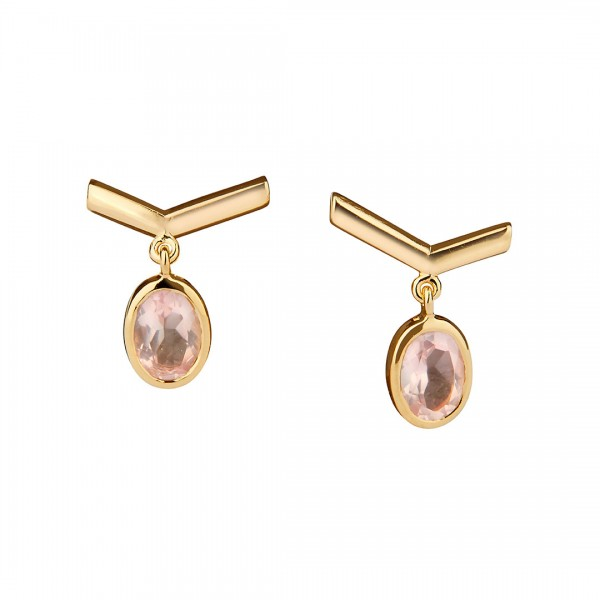 Simple Visionary Earrings Gold