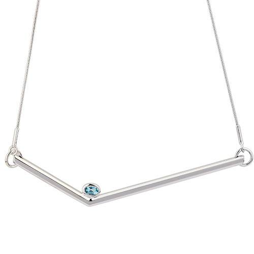 Simple Transforming Necklace Silver