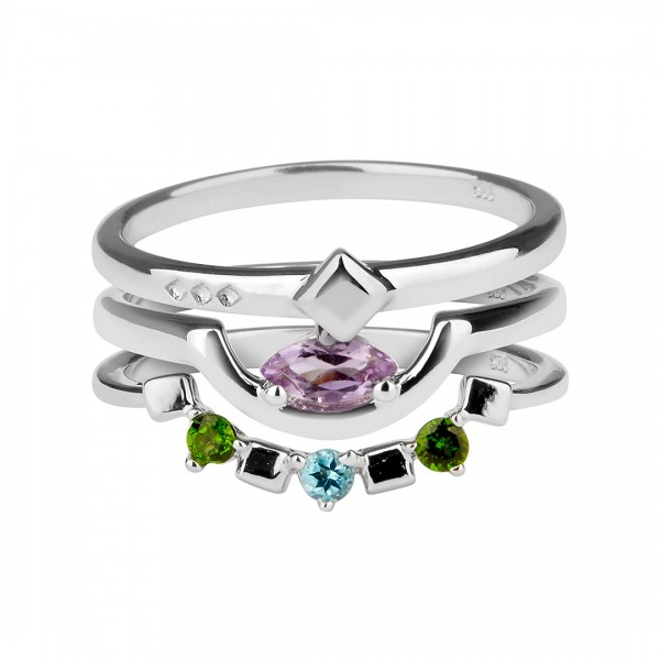 Daring Triad Ring Silver