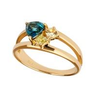 Lucid - Ring Topas (blau) Gold