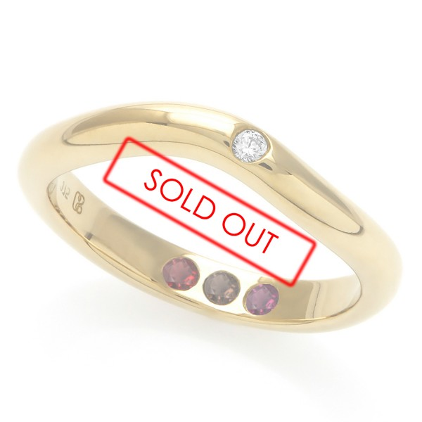 Personalised Hidden Inner Strength Ring Polished Gold