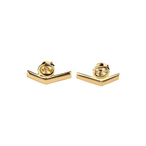 Simple Transforming Earrings Gold