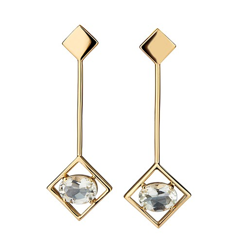 Sparkling Big Earrings Gold