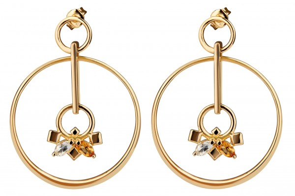 Daring Infinite Earrings Gold