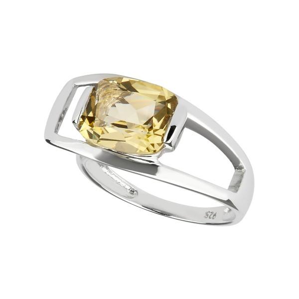 Charming Quartz - Ring Lemonquarz (grün) Silber