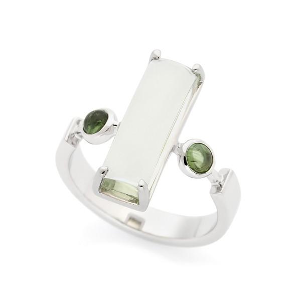 Mystical - Ring Cabochon Amethyst (grün) Silber