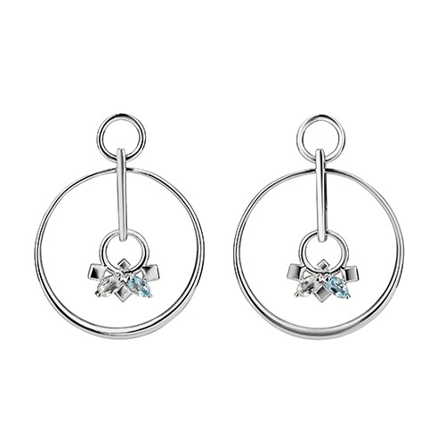 Daring Infinite Earrings Silver