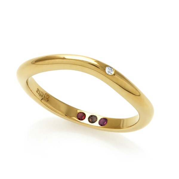 Hidden Inner Strength Ring Gold 2mm polished