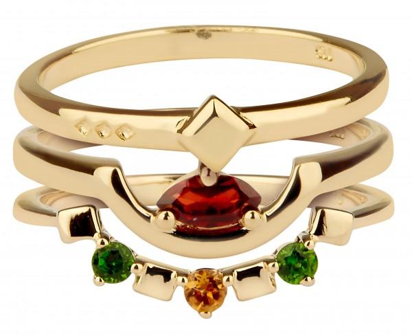 Daring Triad Ring Gold